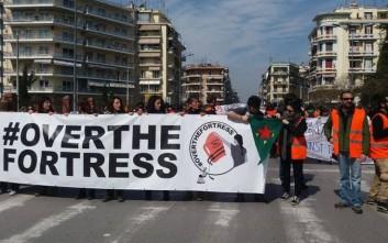 Ιταλοί ακτιβιστές έκαναν πορεία στο κέντρο της Θεσσαλονίκης