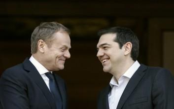 «Ευχαριστώ» Τουσκ στον Τσίπρα: Η ελληνική τραγωδία δεν θα επανέλθει