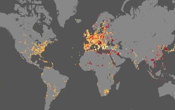 Οι μάχες των τελευταίων 4.000 ετών σε ένα χάρτη
