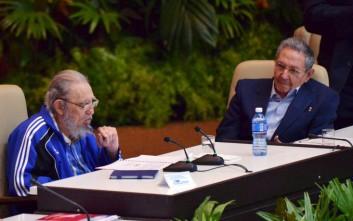 Επανεξελέγη πρώτος γραμματέας στο συνέδριο του Κομμουνιστικού Κόμματος ο Ρ. Κάστρο