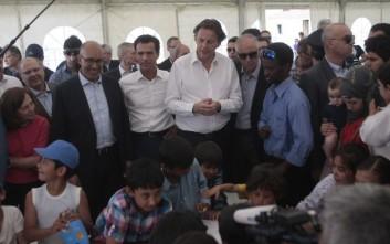 Στο κέντρο φιλοξενίας προσφύγων του Ελαιώνα οι 6 ευρωπαίοι υπουργοί