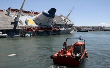 Από τις 18 Απριλίου το πλοίο «Παναγία Τήνου» είχε πάρει κλίση λόγω εισροής υδάτων