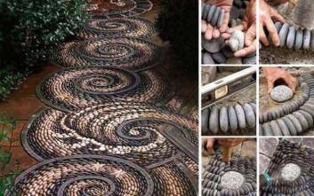 Διακόσμηση από πέτρες που μεταμορφώνουν έναν κήπο