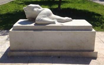 Αποκεφάλισαν το άγαλμα της «Βορείου Ηπείρου» στην οδό Τοσίτσα