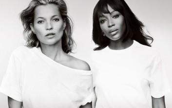 Kate Moss και Naomi Campbell ποζάρουν για τον καρκίνο του μαστού