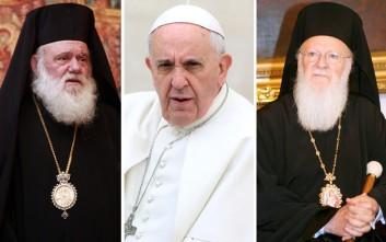 Καθολική Εκκλησία της Λέσβου: Εμπνευσμένη από το Άγιο Πνεύμα η επίσκεψη Πάπα-Ιερώνυμου-Πατριάρχη