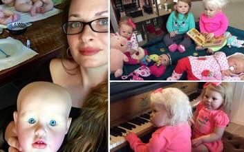 Μητέρα τεσσάρων αγοριών ξόδεψε 3.000 λίρες σε κούκλες φροντίζοντάς τες σαν κόρες