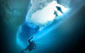 Πώς είναι τα παγόβουνα κάτω από την επιφάνεια του νερού