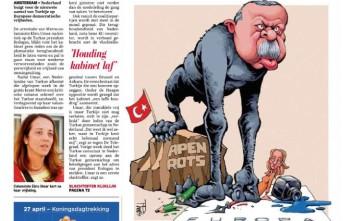 Ο «πίθηκος» Ερντογάν στο πρωτοσέλιδο της De Telegraaf