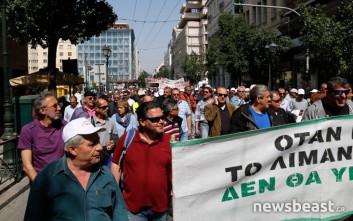 Συγκέντρωση διαμαρτυρίας των εργαζομένων στα λιμάνια