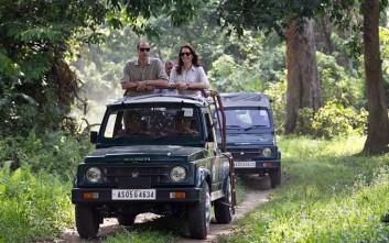 Γουίλιαμ και Κέιτ σε σαφάρι στην Ινδία