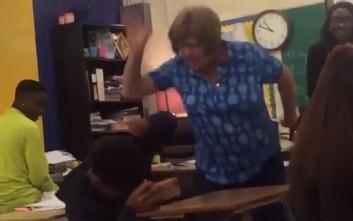 Δασκάλα στο Τέξας χτυπάει ξανά και ξανά μαθητή της