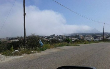 Ομίχλη και σκόνη «έκρυψαν» τα Χανιά