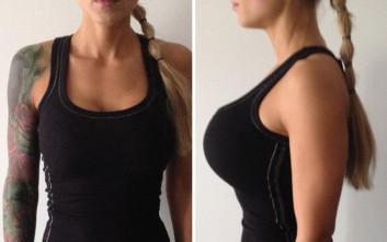 Το μεγάλο στήθος της... πρόβλημα για το γυμναστήριο