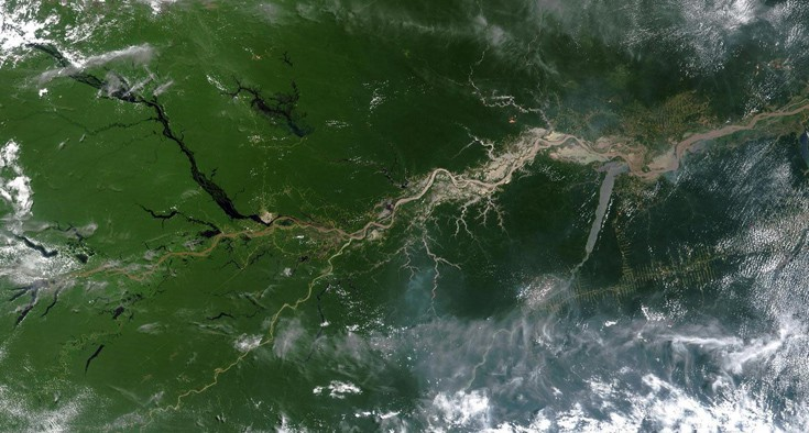 Αεροφωτογραφία του Αμαζονίου (Credit: World History Archive/Alamy Stock Photo)