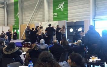 Ακτιβίστριες της Femen διέκοψαν την ομιλία ενός ισλαμολόγου
