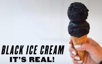 Το κατάμαυρο... παγωτό που τρελαίνει του Νεοϋορκέζους