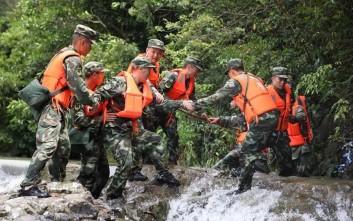 Πέντε νεκροί από τις πλημμύρες και τις κατολισθήσεις στην Κίνα
