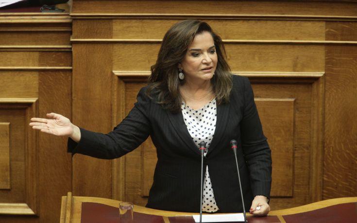 Μπακογιάννη: Να προσέλθει στη Βουλή ο Τσακαλώτος και να πει τι έγινε στο Eurogroup