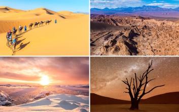 Συναρπαστικές εικόνες από τις ερήμους του πλανήτη