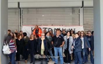 Κατάληψη εργαζομένων στο δημαρχείο Χανίων