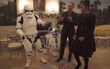 Μπαράκ και Μισέλ Ομπάμα σε ρυθμούς…. Star Wars