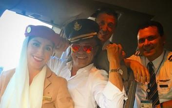 Ο Ηλίας Ψινάκης... πιλότος