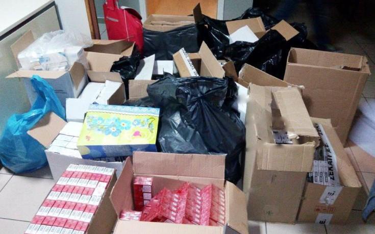 Χιλιάδες πακέτα λαθραίων τσιγάρων σε διαμέρισμα στην Ομόνοια