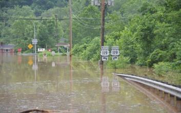 Οι χειρότερες πλημμύρες του τελευταίου αιώνα στη Δυτική Βιρτζίνια