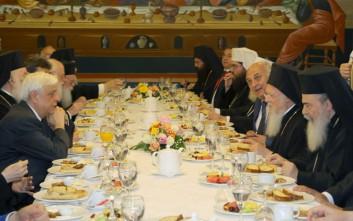 Γεύμα Παυλόπουλου προς τιμήν του Οικουμενικού Πατριάρχη Βαρθολομαίου