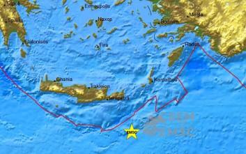Δύο σεισμοί τη νύχτα στην Κρήτη