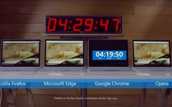 Ποιον browser «κατηγορεί» η Microsoft για τις μπαταρίες που... πεθαίνουν