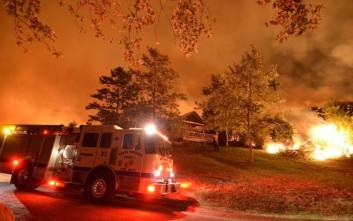 Μαίνεται η πυρκαγιά Σέρπα στη Σάντα Μπάρμπαρα