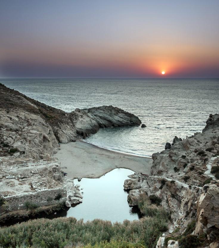 Ηλιοβασίλεμα παραλία, Ικαρία