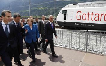Εγκαίνια για τη μεγαλύτερη σιδηροδρομική σήραγγα στον κόσμο