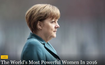 Forbes: Η Μέρκελ η ισχυρότερη γυναίκα στον κόσμο και φέτος