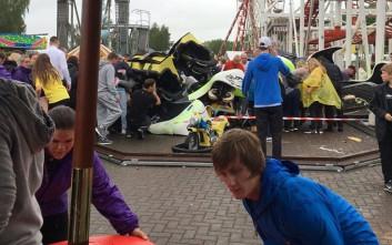 Τρόμος σε λούνα παρκ από εκτροχιασμό και πτώση rollercoaster