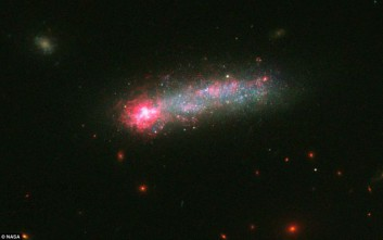 Αστρικά «πυροτεχνήματα» σε έναν σπάνιο γαλαξία-γυρίνο