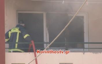 Άνδρας κάηκε ζωντανός μέσα στο διαμέρισμα που διέμενε στην Κόρινθο