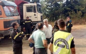 Ο Κεδίκογλου επισκέφτηκε της πληγείσες από την πυρκαγιά περιοχές της Εύβοιας