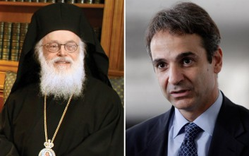 Εγκάρδια συνάντηση με τον Αρχιεπίσκοπο Αλβανίας είχε ο Μητσοτάκης