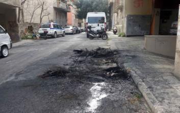 Επίθεση με μολότοφ έξω από σπίτι του Φλαμπουράρη, έκαψαν τζιπ της αστυνομίας