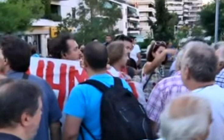 Ένταση σε εκδήλωση του ΣΥΡΙΖΑ στη Νέα Σμύρνη
