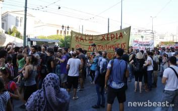 Σε εξέλιξη συλλαλητήριο στην Αθήνα για την υπεράσπιση των καταλήψεων