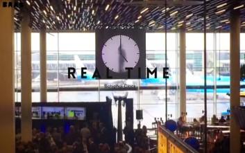 Το real time ρολόι του Maarten Baas στο Άμστερνταμ