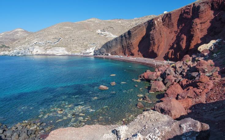 Η Κόκκινη παραλία της Σαντορίνης