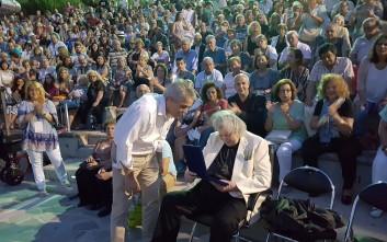 Αποθέωση για τον Μίκη Θεοδωράκη στο  θέατρο του Αττικού Άλσους