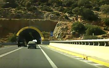 Τροχαίο ατύχημα με τρεις τραυματίες στο τούνελ του Βραχασίου στη Χερσόνησο