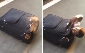Μετανάστης ταξίδεψε από την Ιταλία στην Ελβετία μέσα σε βαλίτσα