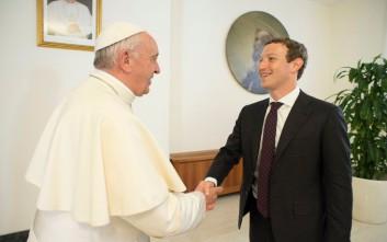 Ο Πάπας υποδέχθηκε τον mr Facebook στο Βατικανό